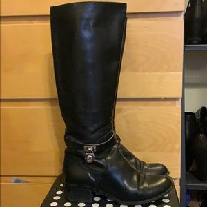 Michael Kors Hamilton Leather Boots size 7